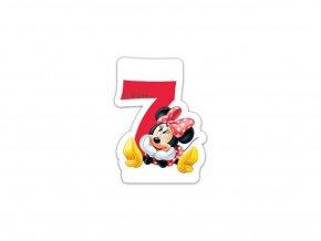 Narozeninová svíčka Minnie číslo 7