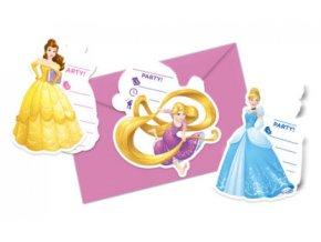 Pozvánky Princezny mix vzorů