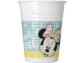 MINNIE TROPICAL PLASTIC CUP ICON