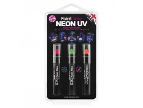 HP30 Neon UV Face Paint Sticks