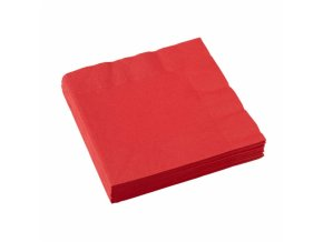 Ubrousky červené 20 ks