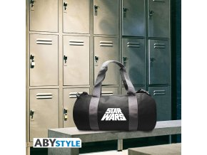 star wars sac de sport logo grey black
