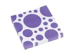 Ubrousky fialové tečkované