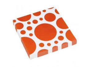 Ubrousky oranžové tečkované