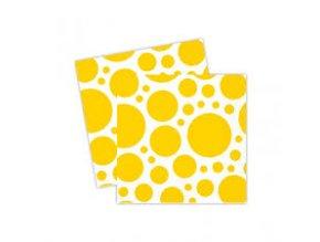 Ubrousky žluté tečkované