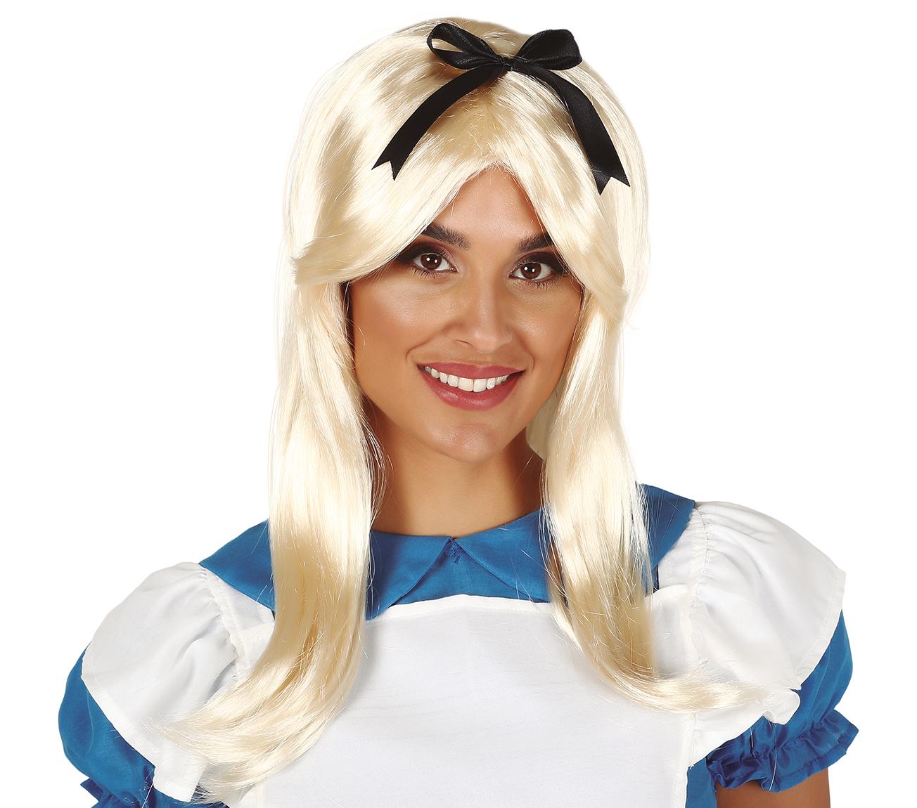 Guirca Paruka blond s černou mašličkou