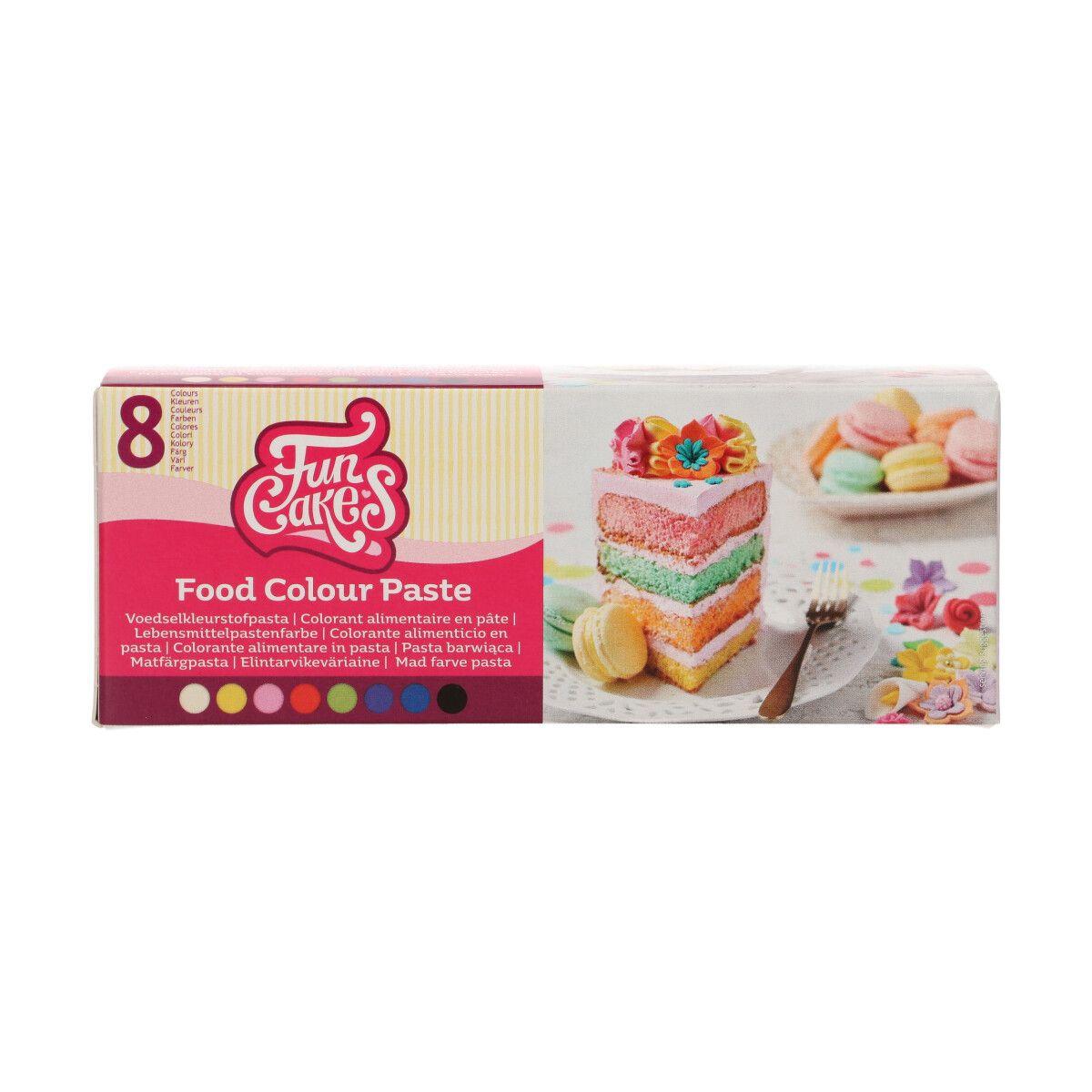 Sada osmi jedlých gelových barev FunCakes