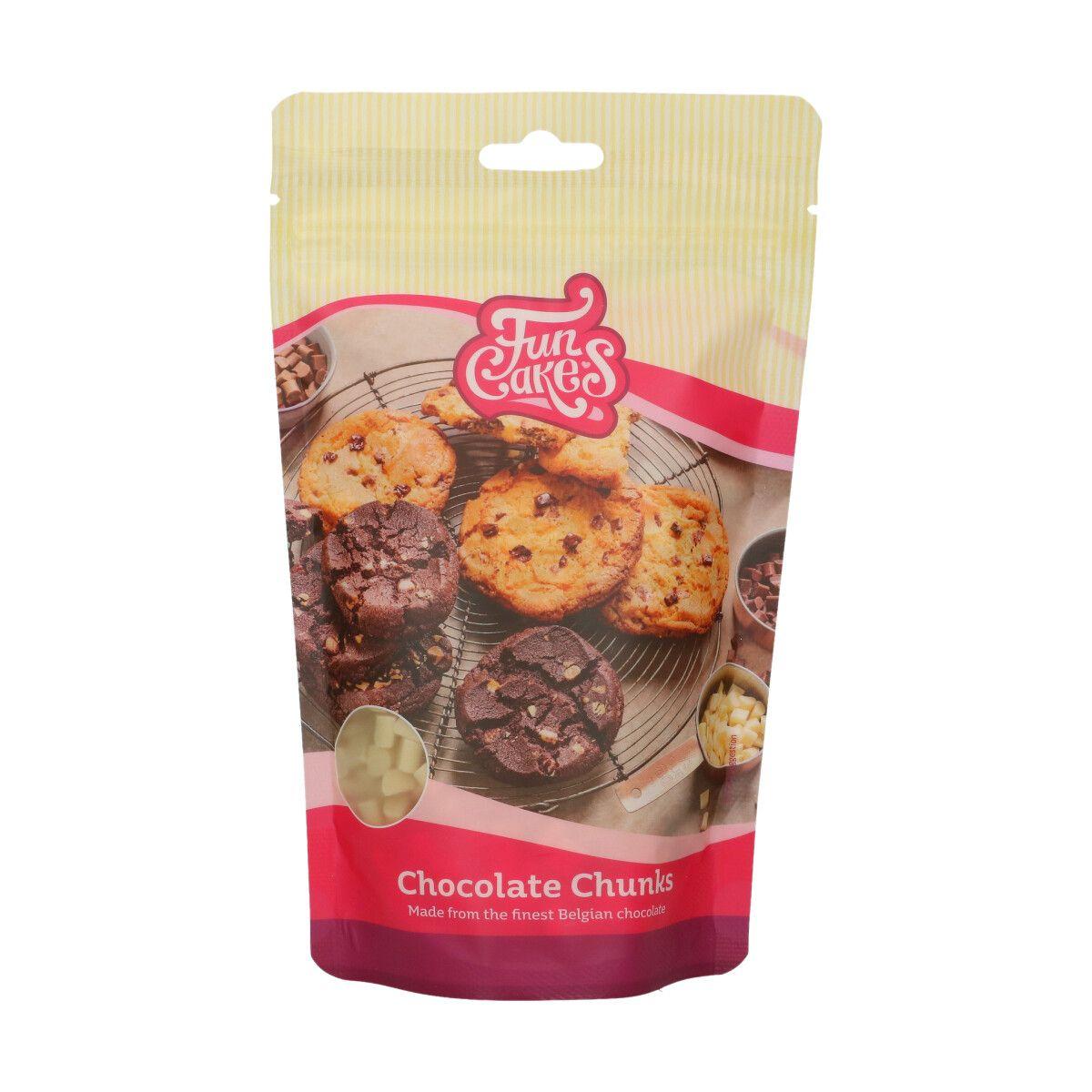 Funcakes Bílá čokoláda kousky - kostky 350 g