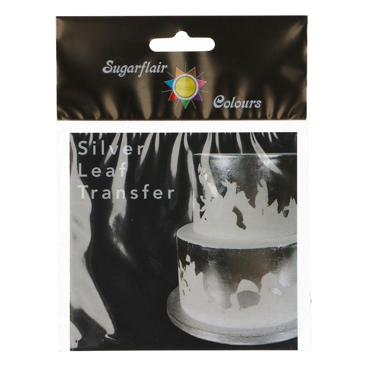 CakeSupplies Jedlé stříbro - fólie transfer 9,5 x 9,5 cm