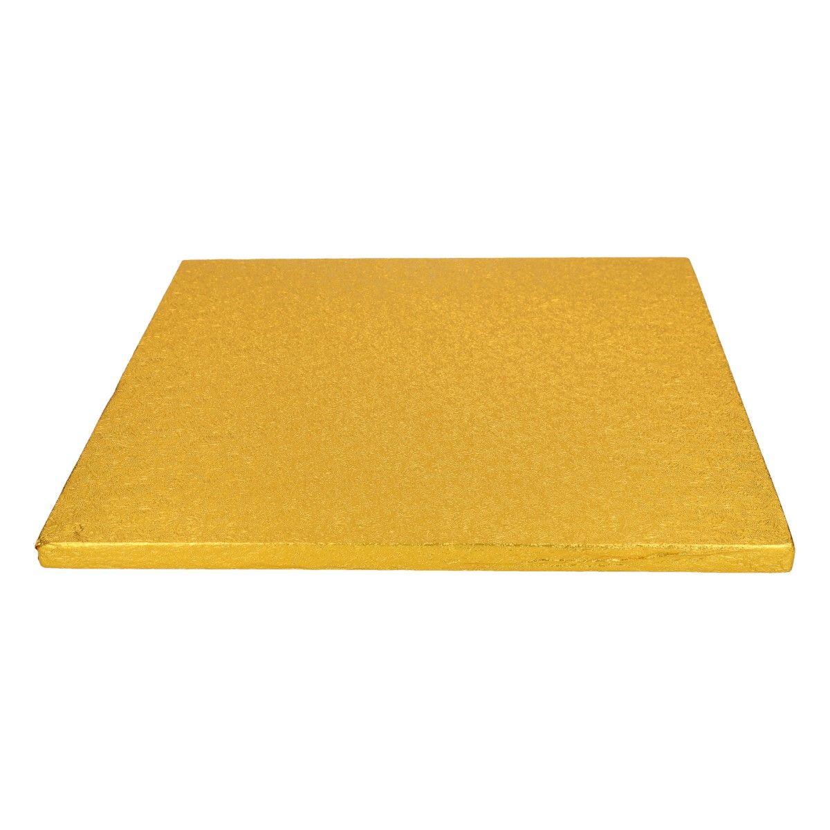 Funcakes Dortová podložka čtvercová zlatá 30,5 cm
