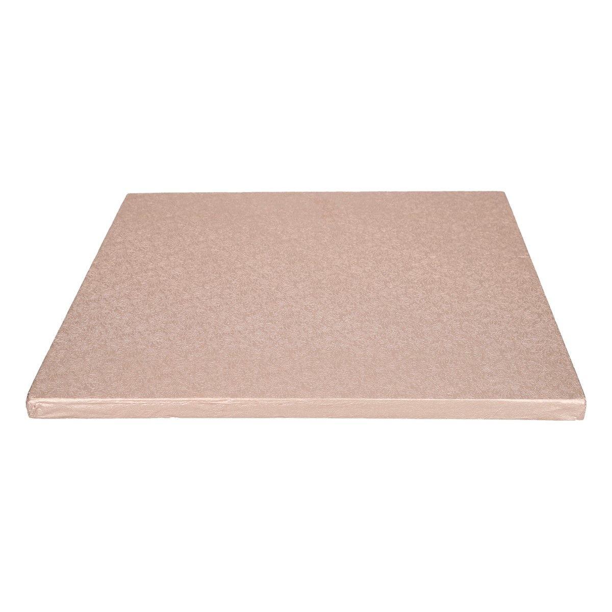 Funcakes Dortová podložka čtvercová růžovozlatá 30,5 cm