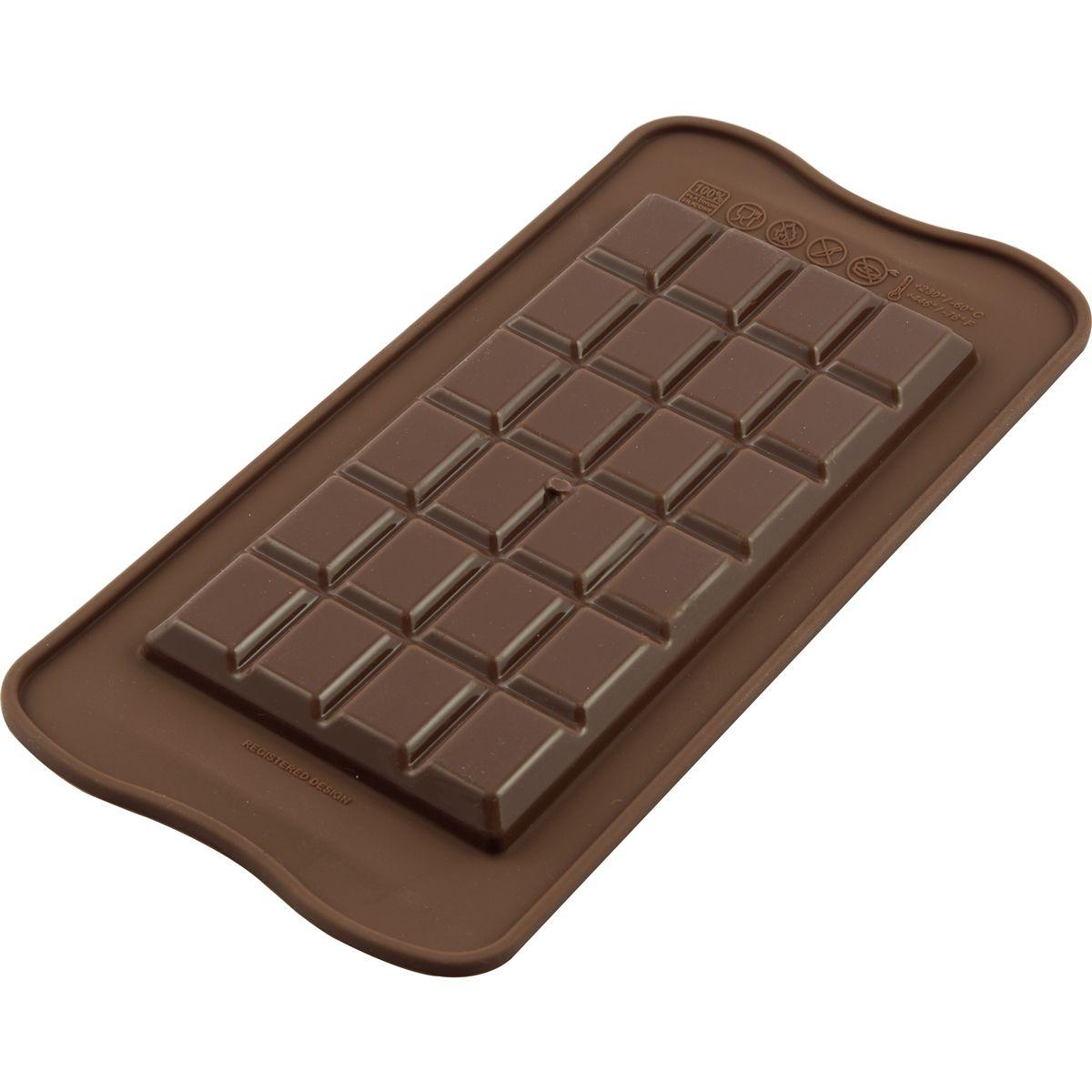 CakeSupplies Silikonová forma na čokoládu - Tabulka čokolády