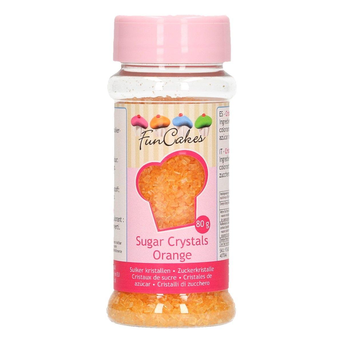Barevný cukr Funcakes - Oranžový 80 g