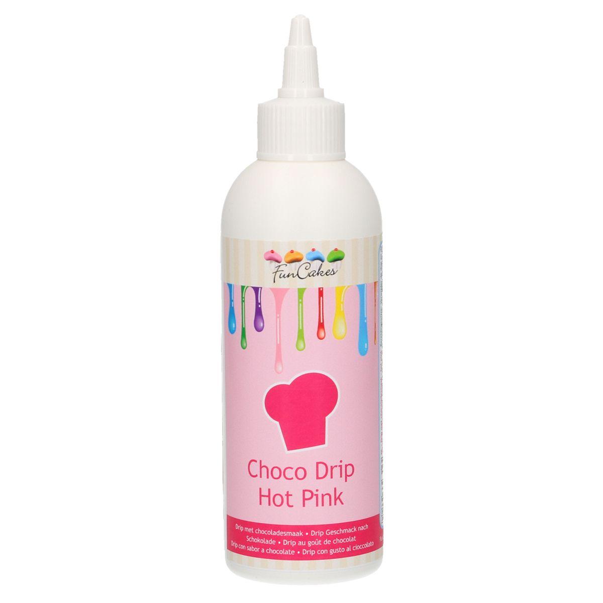 Funcakes Choco Drip Hot Pink - Čokoládová poleva v tubě tmavá růžová 180 g