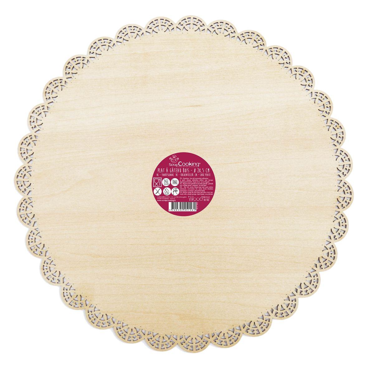 Scrapcooking Dortová podložka dřevěná kulatá O 29 cm