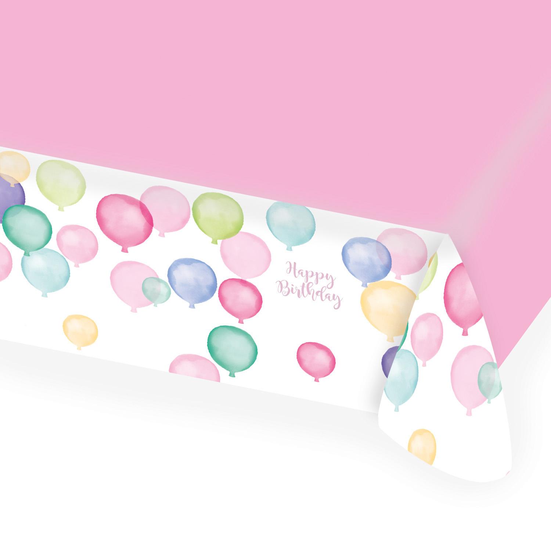 Levně Amscan Ubrus Happy Birthday - Pastelové balóny 115 x 175 cm