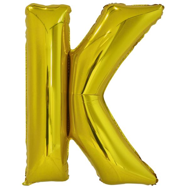 Levně Amscan Fóliový balónek písmeno K 86 cm zlatý
