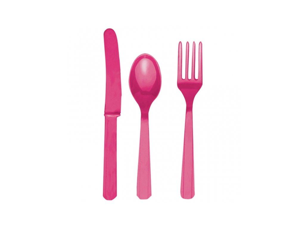 Evőeszköz - rózsaszín, 8 főre