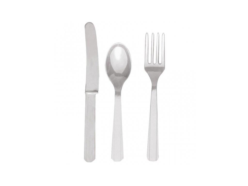 Evőeszköz - ezüst, 8 főre