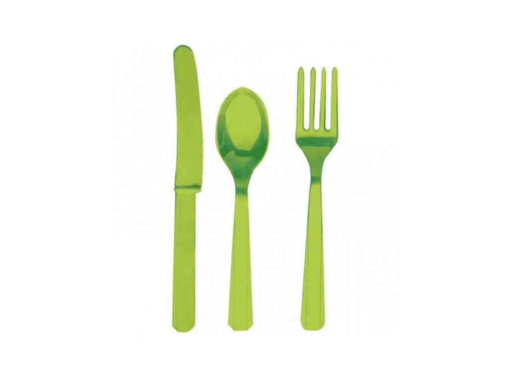 Evőeszköz - zöld, 8 főre
