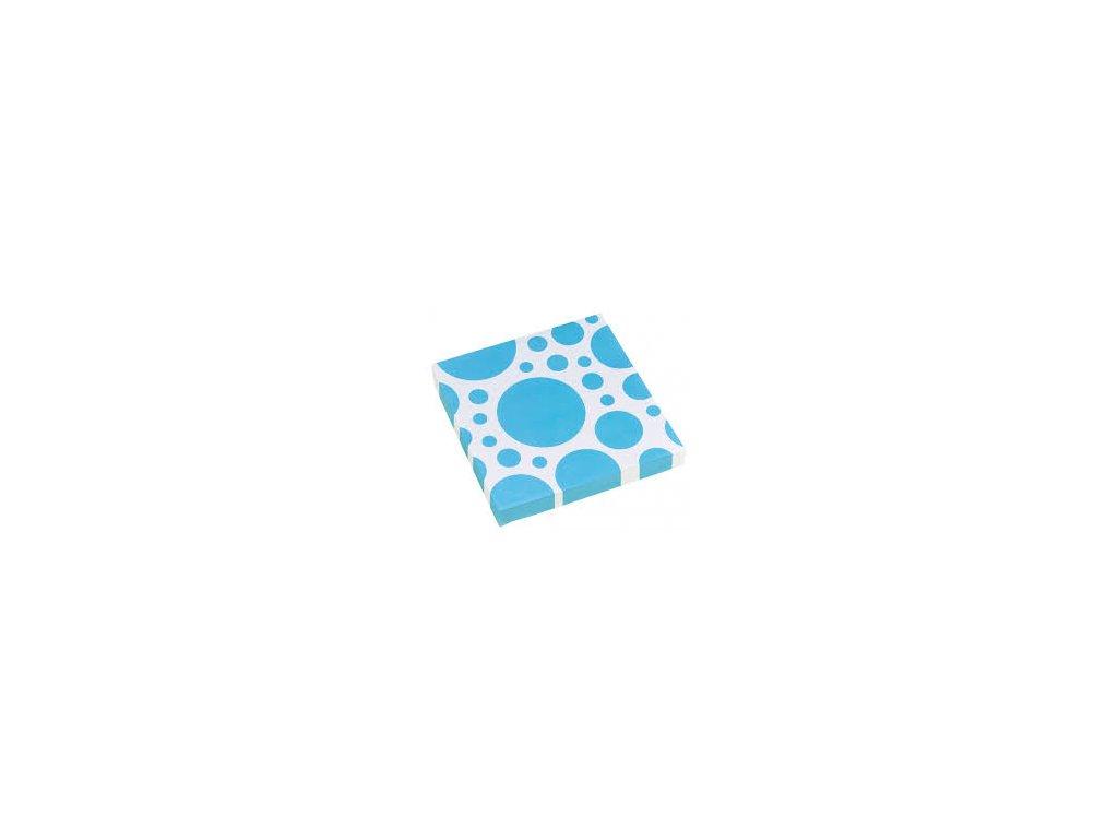 Servítky modré bodkované