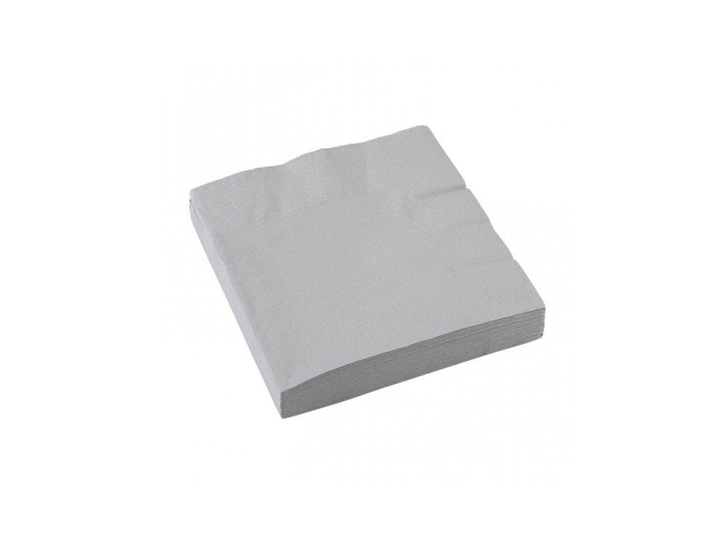 Szalvéták - ezüst 33x33 cm