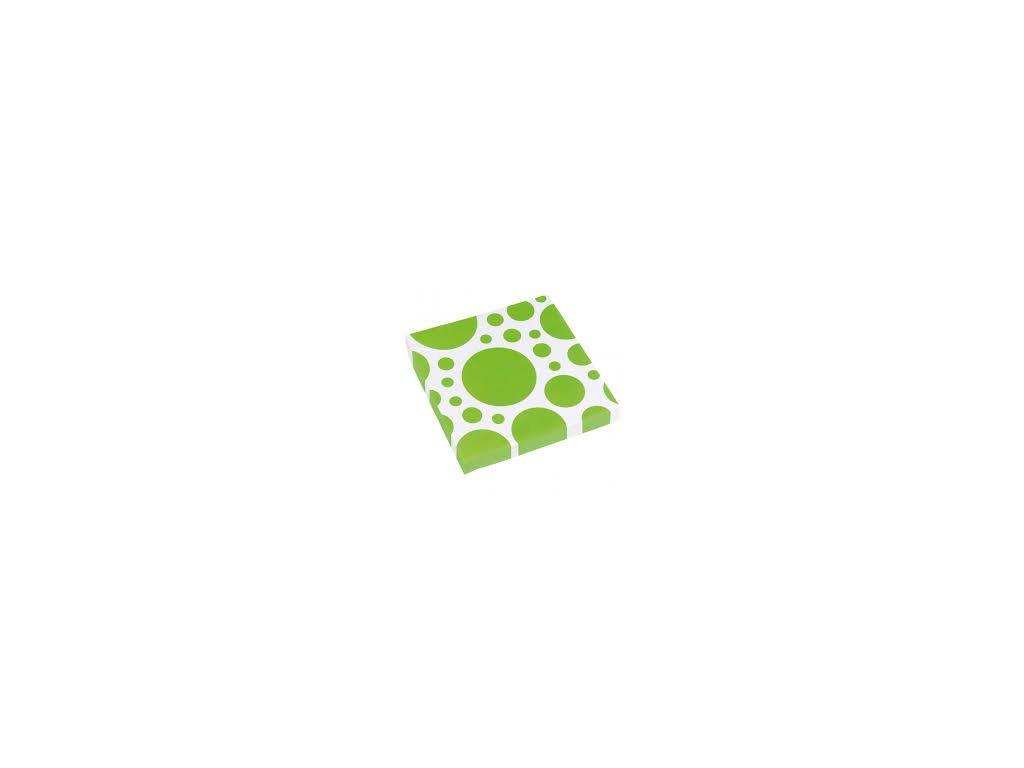 Szalvéták - zöld pöttyös 20 db