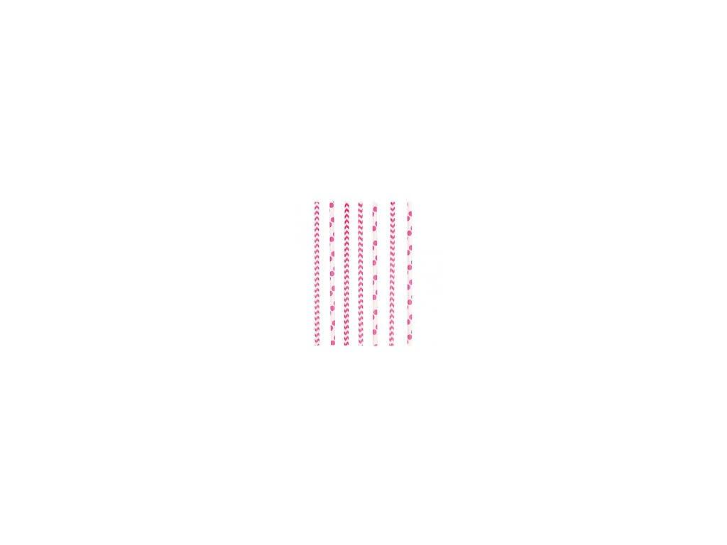 Szívószálak - rózsaszín 24 db