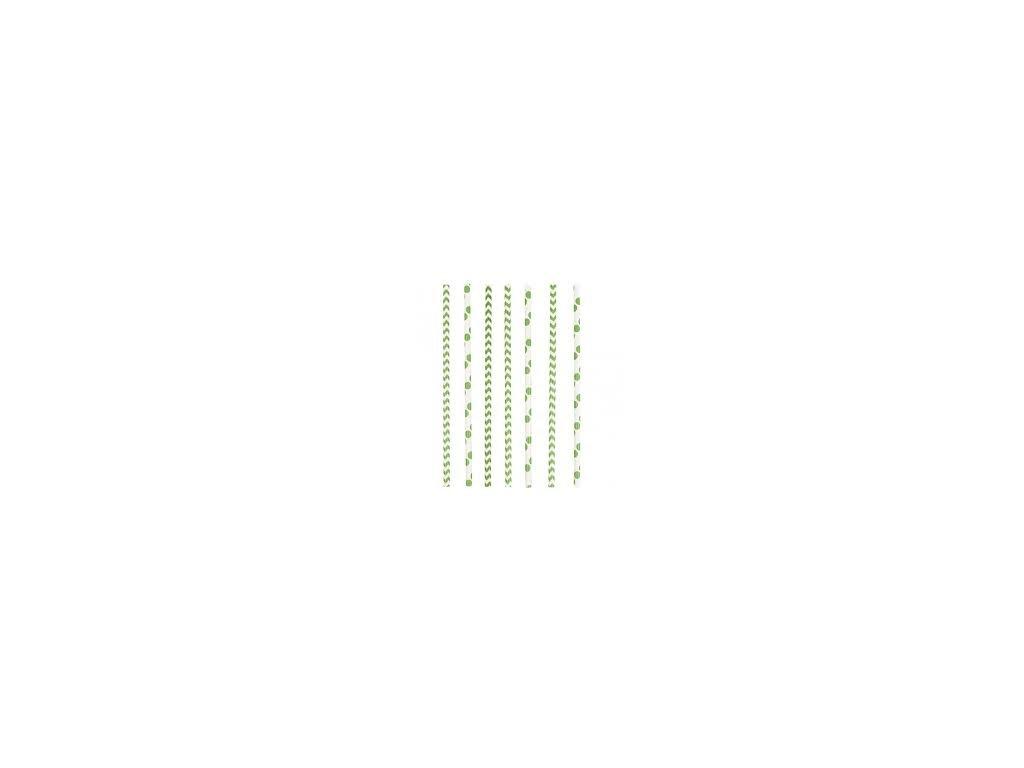 Szívószálak - zöld 24 db