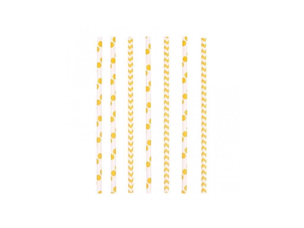 Szívószálak - sárga 24 db