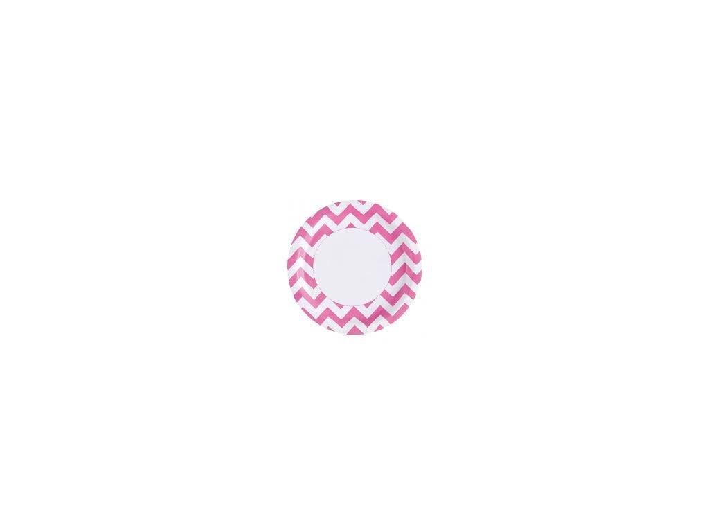 Tányérok - rózsaszín 8 db