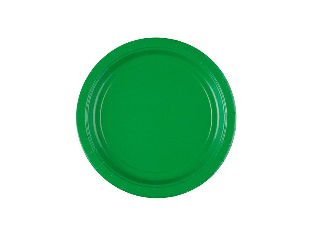 Tányérok - ünnepi zöld 8 db