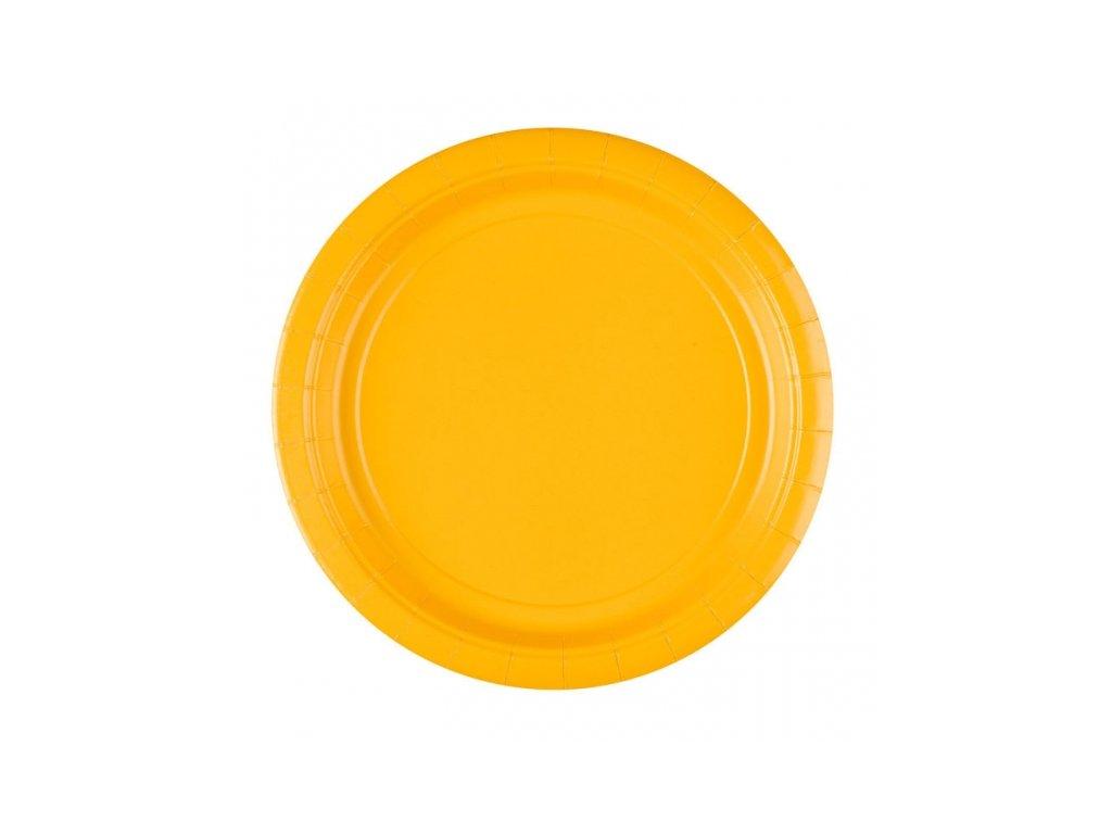 Tányérok - sárga 8 db