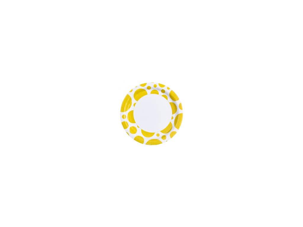 Tányérok - sárga pöttyös 8 db