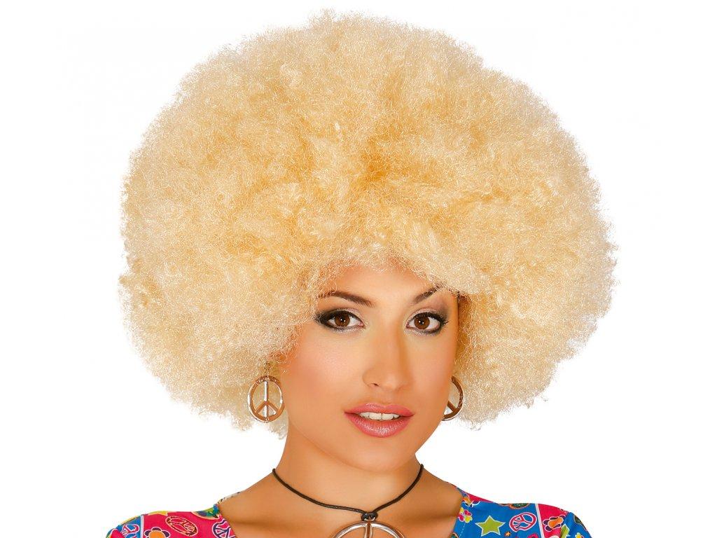 Paróka - afro, szőke