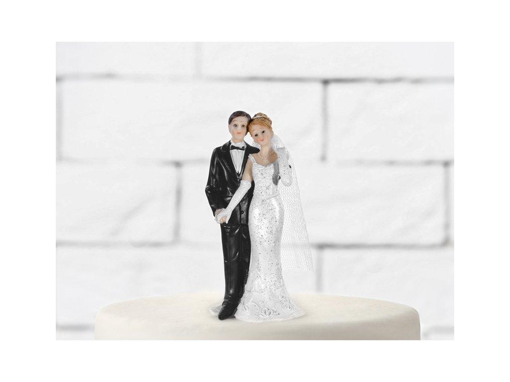 Tortadísz - Menyasszony fátyollal