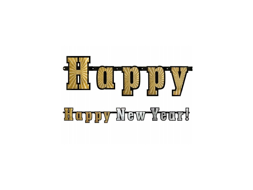 Hologramos Happy New Year banner