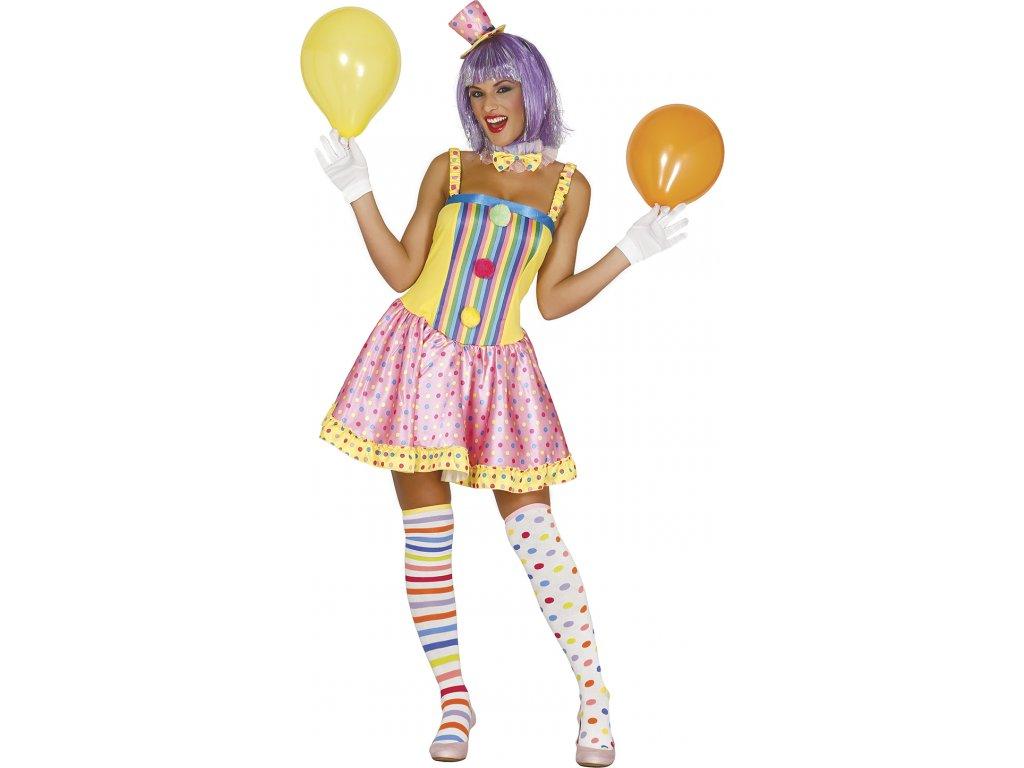 Kostým sexy klaunky (Veľkosti L)