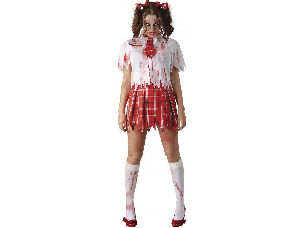 Jelmez - zombi diáklány