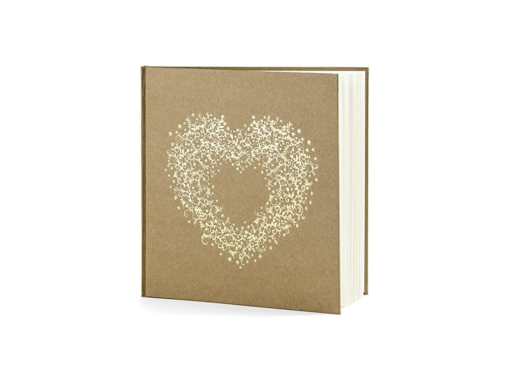 Vendégkönyv arany mintával