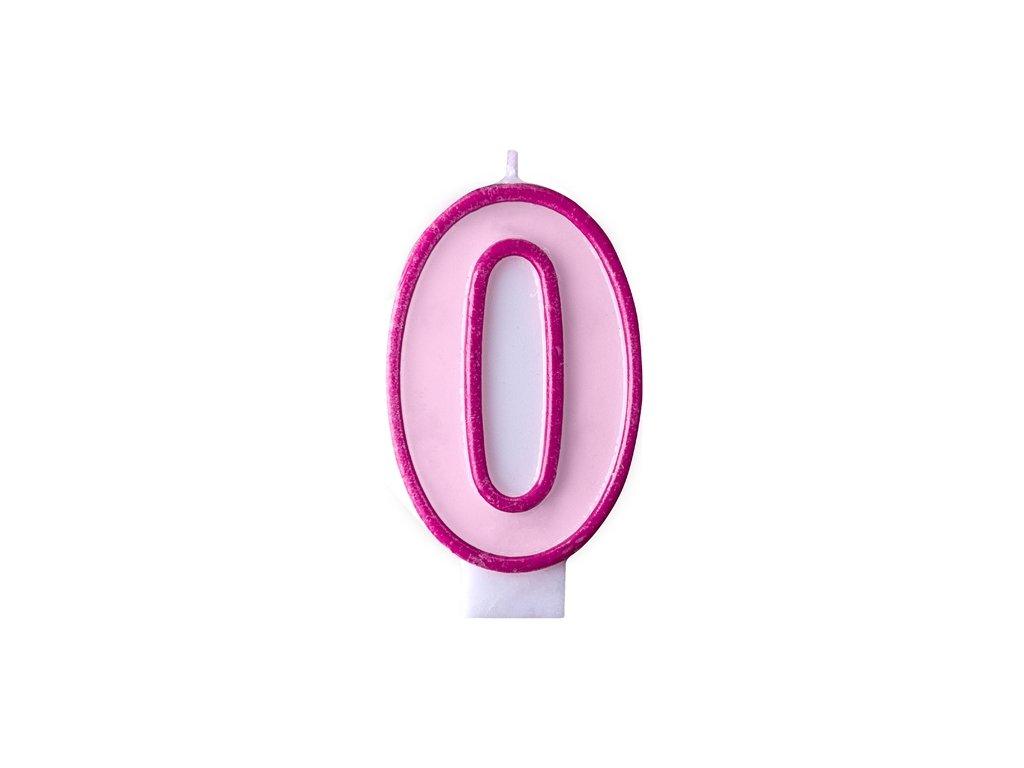 Születésnapi szám gyertya 0 - rózsaszín