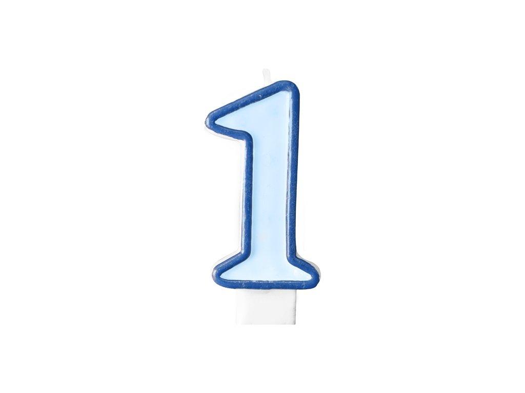 Születésnapi szám gyertya 1 - kék
