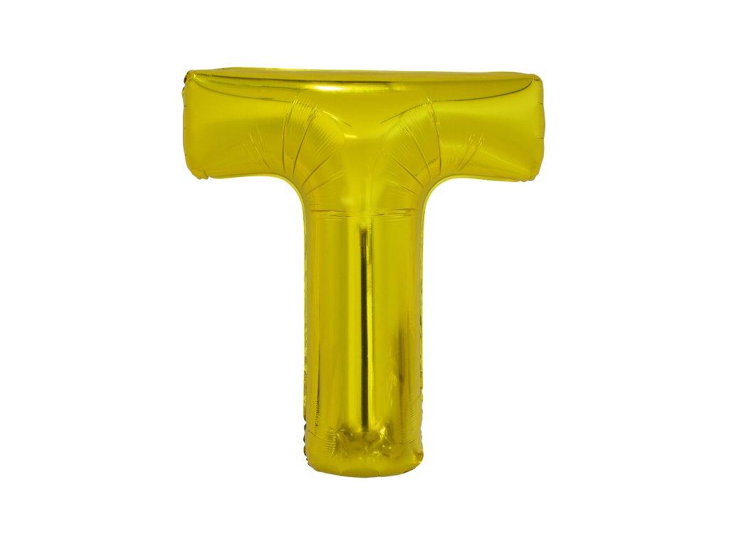 T betű fólia lufi 86 cm - arany