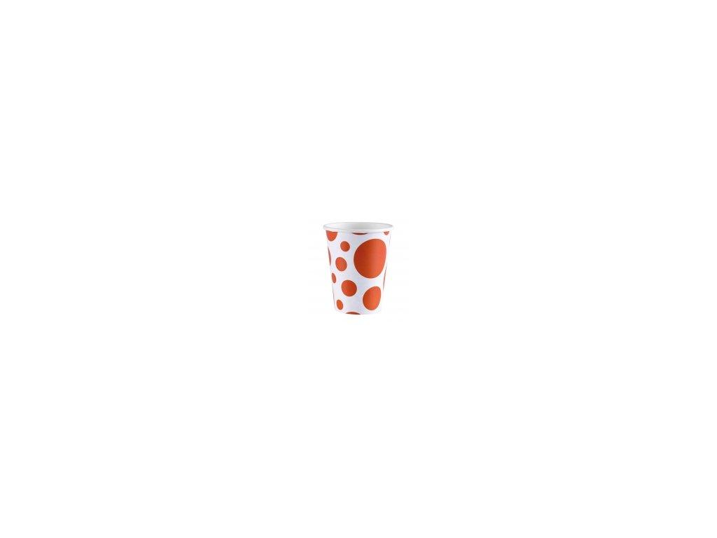 Poharak - narancssárga pöttyös 8 db