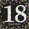 Szalvéták 18. születésnap - csillogó arany