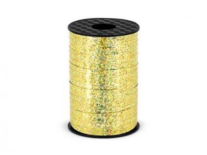 Szalag lufikra - arany - hologramos 225 m