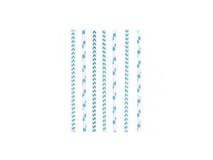 Szívószálak - kék 24 db
