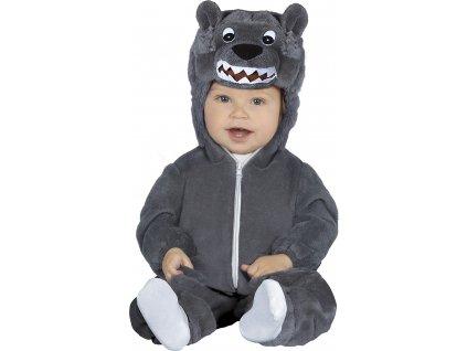 Detský kostým Vlk (Méret - babáknak 6 - 12 hónap)