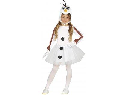 Detský kostým snehuliak Olaf - dievčenský (Méret - gyermek S)