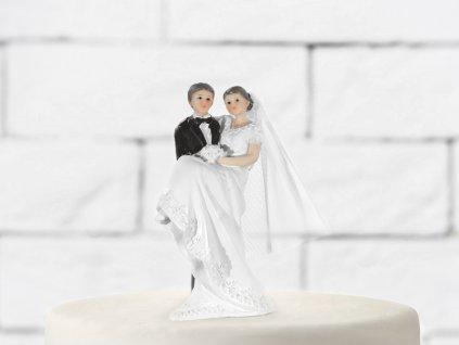 Tortadísz - Menyasszony vőlegény karjában